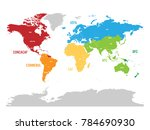 map of world football  or... | Shutterstock .eps vector #784690930