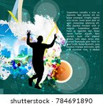 sport illustration with jogger | Shutterstock .eps vector #784691890