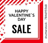 vector square valentine s day... | Shutterstock .eps vector #784695568