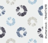 abstract shibori floral motif... | Shutterstock . vector #784697698