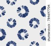 abstract shibori floral motif.... | Shutterstock . vector #784697704
