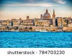 valletta  malta  skyline from...   Shutterstock . vector #784703230