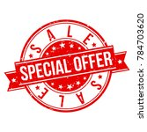 sale special offer stamp circle ... | Shutterstock .eps vector #784703620