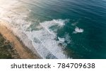 aerial view of waves at beach... | Shutterstock . vector #784709638