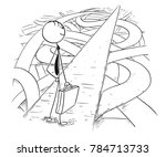 cartoon stick man drawing... | Shutterstock .eps vector #784713733