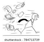 cartoon stick man concept...   Shutterstock .eps vector #784713739