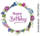 wildflower thistle flower...   Shutterstock . vector #784713964