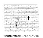cartoon stick man drawing... | Shutterstock .eps vector #784714048