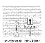 cartoon stick man drawing... | Shutterstock .eps vector #784714054