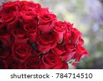 Stock photo red rose bouquet 784714510