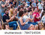 barcelona   jul 2  the audience ... | Shutterstock . vector #784714534