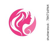 beauty hair salon logo stock... | Shutterstock .eps vector #784716964