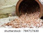 old decorative vase lying on... | Shutterstock . vector #784717630