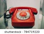 old red retro plastic soviet...   Shutterstock . vector #784719220