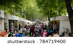 main exhibition and shopping... | Shutterstock . vector #784719400
