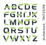 full alphabet logo with leaf... | Shutterstock .eps vector #784725298