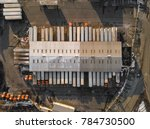 aerial view of a warehouse with ... | Shutterstock . vector #784730500
