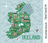 vector stylized map of ireland. ... | Shutterstock .eps vector #784734379