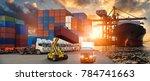logistics and transportation of ... | Shutterstock . vector #784741663