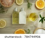 natural cosmetic skincare serum ... | Shutterstock . vector #784744906