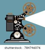 vintage film projector vector...   Shutterstock .eps vector #784746076