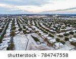 snow covered winter wonderland... | Shutterstock . vector #784747558