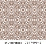 new fashion ornament with... | Shutterstock .eps vector #784749943