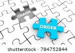 order vs chaos puzzle piece... | Shutterstock . vector #784752844
