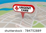 urgent care map pin location... | Shutterstock . vector #784752889