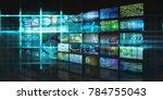 video streaming entertainment... | Shutterstock . vector #784755043