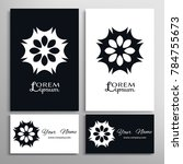 mandala sign symbol  black and... | Shutterstock .eps vector #784755673