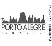 porto alegre brazil america...   Shutterstock .eps vector #784757434