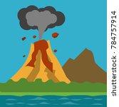 natural disaster illustration...   Shutterstock .eps vector #784757914