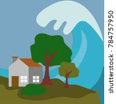 natural disaster illustration... | Shutterstock .eps vector #784757950