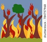 natural disaster illustration... | Shutterstock .eps vector #784757968
