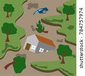 natural disaster illustration... | Shutterstock .eps vector #784757974