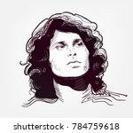 jim morrison vector sketch... | Shutterstock .eps vector #784759618