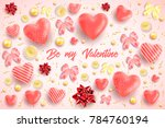 happy saint valentines day... | Shutterstock .eps vector #784760194