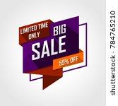 special offer discount sale... | Shutterstock .eps vector #784765210