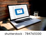 mail communication connection...   Shutterstock . vector #784765330