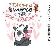 cute teddy bear character in... | Shutterstock .eps vector #784767136