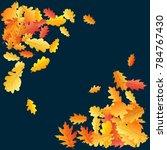 corners of bright oak leaf... | Shutterstock .eps vector #784767430