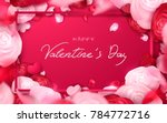 happy holidays  valentines day...   Shutterstock .eps vector #784772716