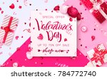 happy holidays  valentines day... | Shutterstock .eps vector #784772740