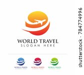world travel agency logo... | Shutterstock .eps vector #784774996