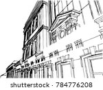 old architecture building ... | Shutterstock .eps vector #784776208