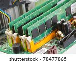 ram memory on computer board