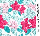 flower seamless pattern | Shutterstock .eps vector #784780678