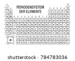 periodensystem der elemente ... | Shutterstock .eps vector #784783036