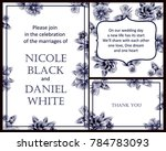 invitation with floral... | Shutterstock .eps vector #784783093